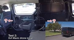 車内のドローンは発進するとどうなるかわかるかな?っていう実験動画