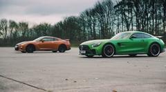 AMG GT R vs 日産 GT-R ドラッグレース対決動画