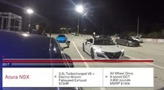 ホンダ NSX vs テスラ モデルS P100D ドラッグレース動画