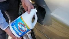 燃料タンクに漂白剤を混ぜたらどうなるか試してみた