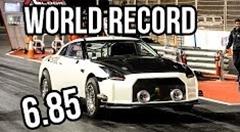 はえー!日産GT-R ゼロヨン6秒853 世界新記録動画