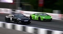 1200馬力 日産 GT-R vs 1200馬力 ランボルギーニ ウラカン 加速対決動画