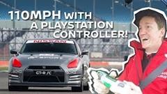 1/1 実車ラジコン GT-R がサーキットを走っちゃう動画