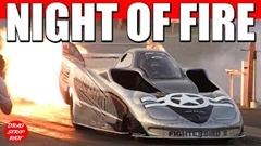ジェットエンジンを積んだジェットカーのドラッグレース動画