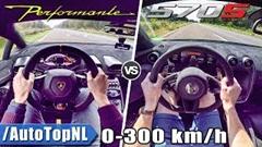 ランボルギーニ ウラカン ペルフォルマンテ vs マクラーレン 570S 加速比較動画