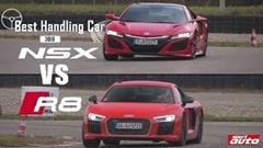 アウディ R8 V10 Plus vs ホンダ NSX サーキット比較動画