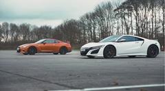 ホンダ NSX vs 日産 GT-R 加速対決動画