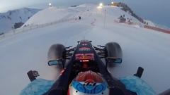 レッドブルのF1マシン 雪山と塩湖を走るの巻