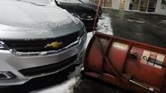 新車に当たりそうで当たらない除雪車ギリギリ雪かき動画