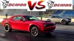 デーモン vs デーモン ダッジ チャレンジャー SRT デーモン同士のドラッグレース動画