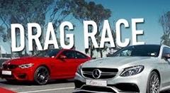 BMW M4 コンペティション vs AMG C63 Sクーペ 加速対決動画