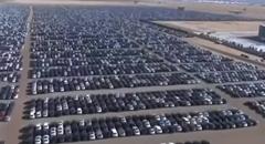 フォルクスワーゲン車が大量に放置されてる駐車場