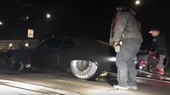 公道で本物のドラッグカーをテストしてたらパトカーに捕まっちゃいました