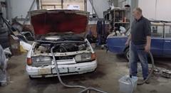 自動車は実は掃除機だった!っていう動画