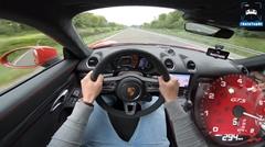 ポルシェ 718 ケイマン GTS がアウトバーンで294km/h出しちゃう動画