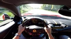フェラーリ 812 スーパーファストがアウトバーンで319km/h出しちゃう動画