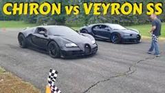 ブガッティ シロン vs ヴェイロンスーパースポーツ 加速対決動画