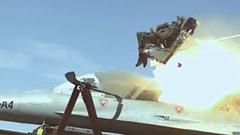 戦闘機の射出座席テスト動画