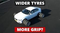 タイヤが太いほうが運動性能がよくなるのか試してみた動画