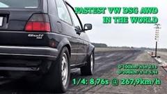 はえー!1200馬力の4WD&DSGゴルフ2 ゼロヨン8秒76激速ゼロヨン動画