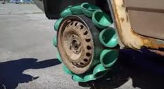 タイヤの代わりに吸盤つけたら最強グリップじゃね?