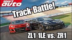 シボレー コルベット ZR1 vs カマロ ZL1 1LE サーキットタイムアタック比較動画
