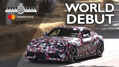 新型トヨタ スープラ プロトタイプ グッドウッド2018で走行姿を初披露!