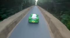 ドローン vs ポルシェ 991 GT3 RS グッドウッド対決動画