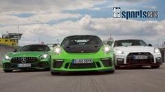 ポルシェ 991 GT3 vs AMG GT R vs 日産 GT-R NISMO サーキットタイムアタック動画