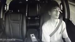 寝ながら運転するマンのドラレコ動画