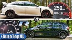 フォルクスワーゲン ゴルフ R vs ホンダ シビック タイプR 0-250km/h 加速比較動画