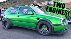 ツインエンジンから1600馬力を叩き出すフォルクスワーゲン ゴルフがスゲー!