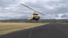 浮いたー!オートジャイロに改造したリライアント・ロビンが空を飛んじゃう動画