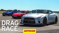 日産 GT-R vs ポルシェ 991 ターボS vs BMW M5 加速対決動画
