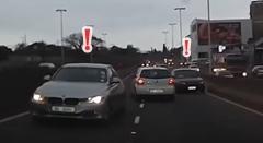 強引に逆走する盗難車両が危険すぎるビックリ追跡動画