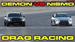 ダッジ チャレンジャー SRT デーモン vs 日産 GT-R NISMO 加速対決動画