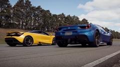 マクラーレン 720S vs フェラーリ 488 スパイダー 加速対決動画