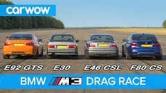 BMW E30 vs E46 vs E92 vs F80 歴代M3ドラッグレース対決動画