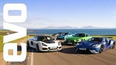 フォード GT vs ポルシェ 911 GT2 RS vs メルセデス AMG GT R vs ロータス エキシージ CUP サーキット比較動画