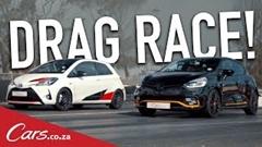 トヨタ ヴィッツ GRMN vs ルノー クリオ R.S. 18 加速対決動画