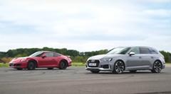 ポルシェ 991 GTS vs アウディ RS4 加速対決動画