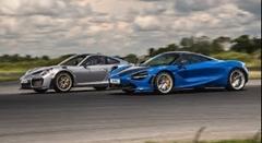 ポルシェ 991 GT2 RS vs マクラーレン 720S ゼロセン加速対決動画