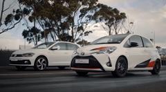 トヨタ ヴィッツ GRMN vs フォルクスワーゲン ポロ GTI 加速対決動画