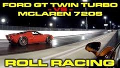 1000馬力フォード GT vs マクラーレン 720S 加速対決動画