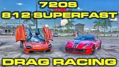 フェラーリ 812 スーパーファスト vs マクラーレン 720S ドラッグレース対決動画