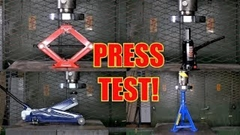パンダジャッキ vs フロアジャッキ vs ボトルジャッキ vs リジットラック プレステスト動画