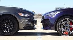 フォード マスタング GT vs キア スティンガー GT ドラッグレース対決動画