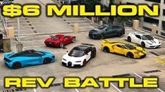ブガッティ シロン vs フォード GT vs マクラーレン 720S vs フェラーリ 458 スペチアーレ vs ランボルギーニ ウルス ブリッピングバトル動画