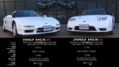 ホンダ収蔵車両 NSX-R(1992) と NSX-R(2002) を比較しながら涎を垂らす動画