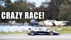 エアレーサー vs ポルシェ 991 GT2 RS vs ブラバム BT62 vs レイトンハウス F1 異種ドラッグレース動画